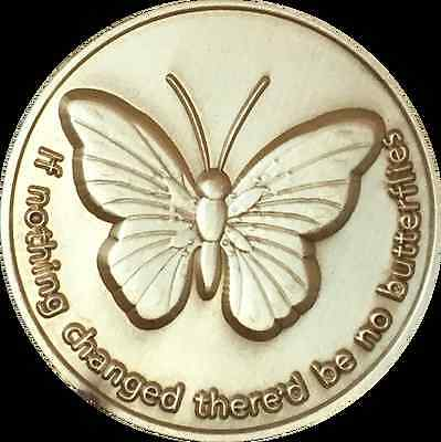 Set of 20 If Nothing Changed There'd Be No Butterflies Butterfly Medallion Coins