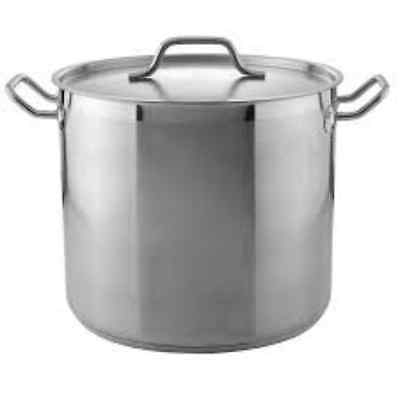 Pinch Sp32 32 Qt. Stainless Steel Stock Pot With Cover Induction Ready