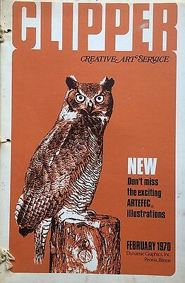 Vtg Clipper Creative Iconic American Commercial Art Large Format Book Feb. 1970