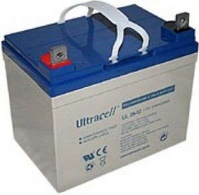 Ultracell UL35-12 : Batterie au plomb étanche 12V 35AH : 130x195x178mm