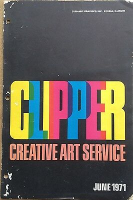 Vtg Clipper Creative Iconic American Commercial Art Large Format Book June 1971