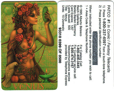 Alberto Belasco Venus Collectible Phone card