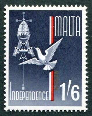 MALTA 1964 1s6d indigo, red and gold SG325 mint MNH FG Independence #W18