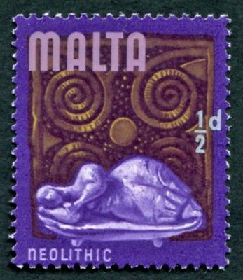 MALTA 1965-70 1/2d multicoloured SG330 mint MH FG Neolithic era #W18