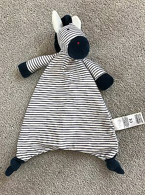 Marks And Spencer M&s With Love Zebra Comforter Soft Cuddle Toy Blankie Doudou