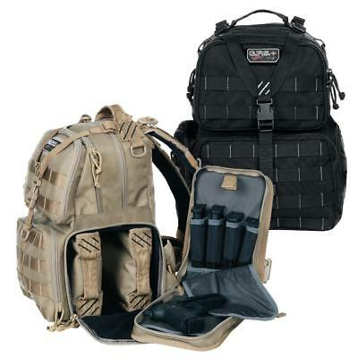G.P.S. Tactical MOLLE Range Backpack w/Three Removable Pistol Cases/Mag Storage