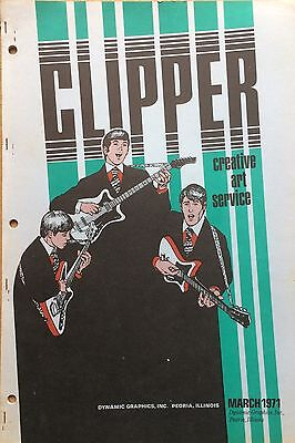 Vtg Clipper Creative Iconic American Commercial Art Large Format Book March 1971