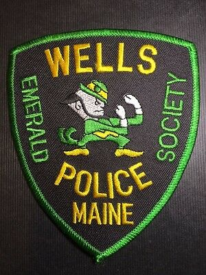 Wells Maine Police Emerald Society Shoulder Patch