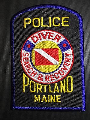 Portland Maine Diver Search & Recovery  Police  Shoulder Patch
