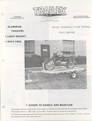 1970 Trailex Motorcycle Trailer Brochure na1103