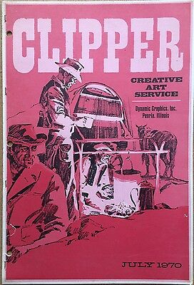 Vtg Clipper Creative Iconic American Commercial Art Large Format Book July 1970