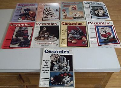 Lot of (9) 1982 CERAMICS The World's Most Fascinating Hobby MAGAZINES Ship Deal