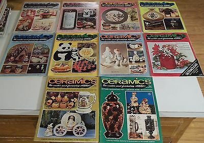 Lot of (10) 1973 CERAMICS The World's Most Fascinating Hobby MAGAZINES Ship Deal