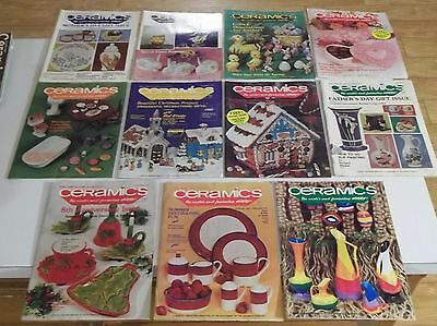 Lot of (11) 1979 CERAMICS The World's Most Fascinating Hobby MAGAZINES Ship Deal