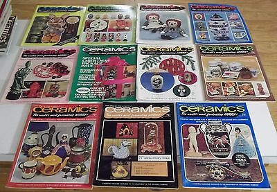 Lot of (11) 1974 CERAMICS The World's Most Fascinating Hobby MAGAZINES Ship Deal