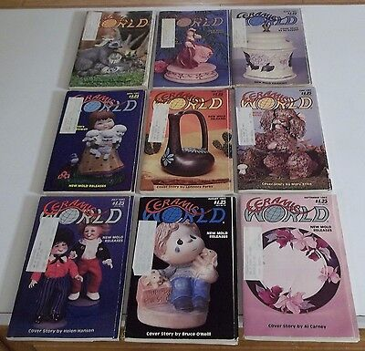 Lot of (9) 1982 CERAMIC WORLD Magazines (Combined Shipping Deal)