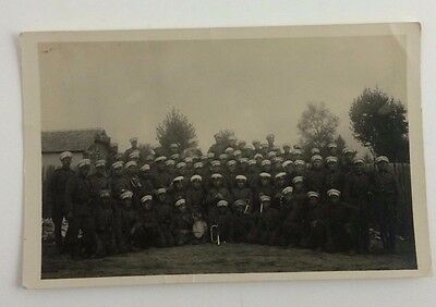 VINTAGE rppc WWI WORLD WAR ONE RUSSIAN MILITARY BAND REAL PHOTO POSTCARD UNUSED