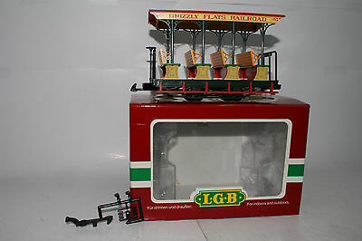 Lgb G Scale #30430 Grizzly Flats Railroad Sightseeing Passenger Car, Boxed