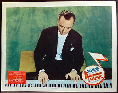 Classical Pianist Jose Iturbi LOT 3 ORIGINAL 1940s Movie Lobby Cards Piano