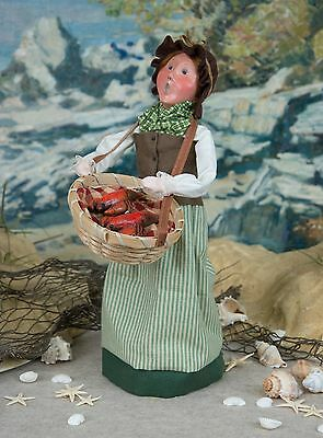 Byers Choice Nautical Woman w/Basket of Lobster Ocean Sea Coastal Collection