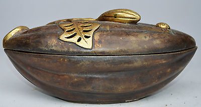 Collectible Decorated Copper Carved Fruit Incense Burner