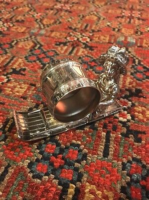 Wilcox Silverplate Kate Greenaway Victorian Figural Girl On Toboggan Napkin Ring