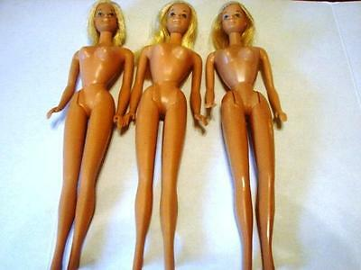 Mattel~Vintage Suntan Malibu Barbies~Lot of 3~Made in Japan & Korea~