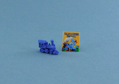 Adorable Dollhouse Miniature Toy Train with Book Set #HCX105