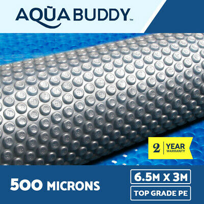 Solar Swimming Pool Cover 500 Micron Outdoor Bubble Blanket 6.5M X 3M 2 YR WRTY