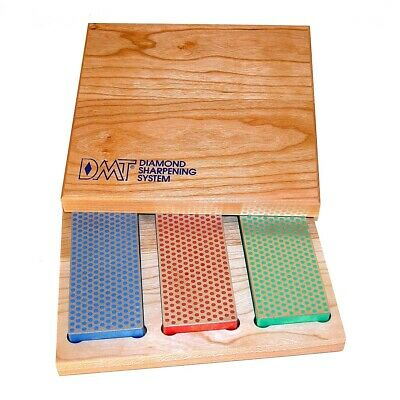 DMT Diamond Whetstones - 3 Stone Set In Wood Box