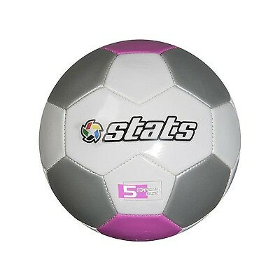 Stats - Pro Soccer Ball Size 5 - White, Pink & Silver