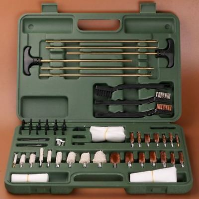 62 pc Universal Gun Cleaning Brush Set in Storage Box Air Rifle Pistol Shotgun