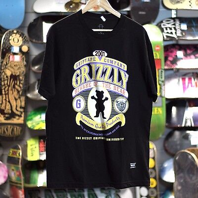 Grizzly Griptape Skateboard T-Shirt T Shirt - Beware Of The Bear - L