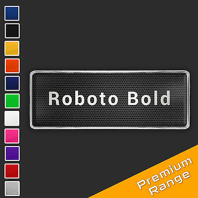 Custom Text Logo Chrome Badge CHOOSE YOUR FONT STYLE + COLOUR [add on only] RBB