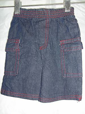 Unbranded Baby Unisex Boy's Girl's Bottoms Blue Denim Jeans Size 6/9 Months