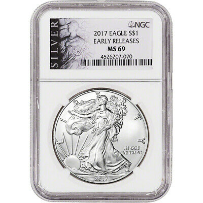 2017 American Silver Eagle - NGC MS69 - Early Releases - ALS Label
