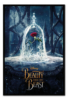 Framed Beauty And The Beast Enchanted Rose Poster