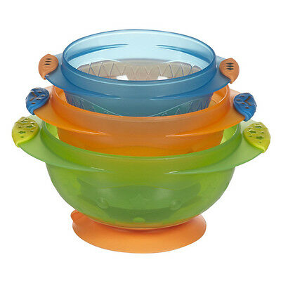 Munchkin Stay Put Suction Bowls - set of 3
