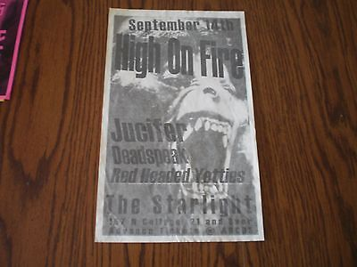 high on fire music promotional poster
