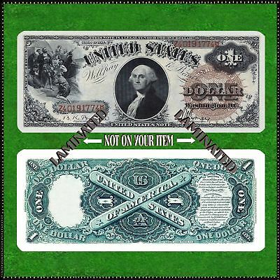 Laminated Bookmark Small ( 5 X 2 ) Copy Reproduction 1880 $1 Brown Paper Money