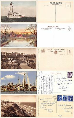 40 old British postcards - wide variety, nice condition