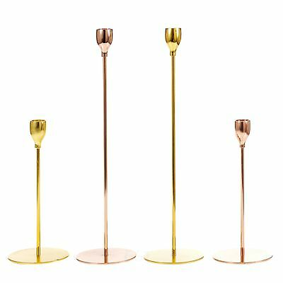 1 or 2 Metal Tall Modern Traditional Dinner Candlesticks Pillar Candle Holder