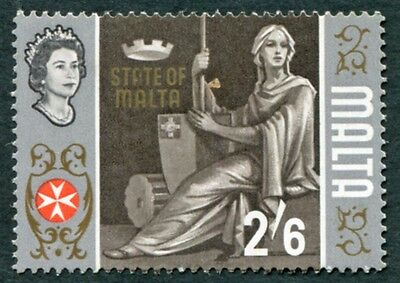 MALTA 1965-70 2s6d multicoloured SG344 mint MH FG State of Malta #W18