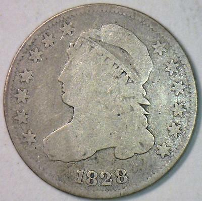 1828 Small Date Capped Bust Dime; JR-1; Nice Original VG