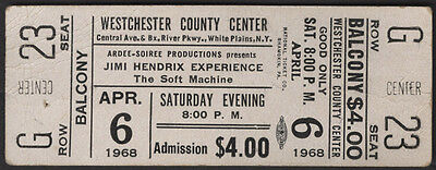JIMI HENDRIX Concert Ticket - White Plains, NEW YORK 1968 - reprint