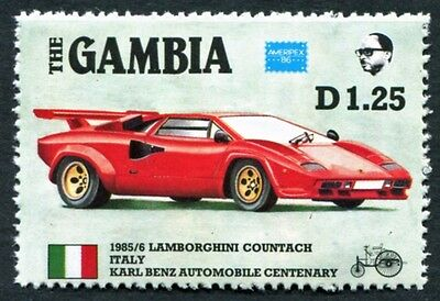 GAMBIA 1986 1d25 SG653 mint MNH FG Ameripex Exhibition Benz Car Centenary #W18