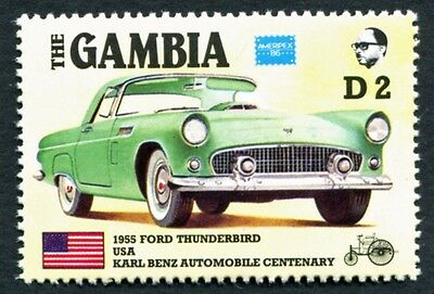 GAMBIA 1986 2d SG654 mint MNH FG Ameripex Exhibition Benz Car Centenary #W18