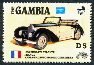GAMBIA 1986 5d SG656 mint MNH FG Ameripex Exhibition Benz Car Centenary #W18