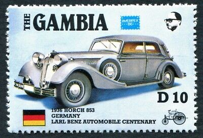 GAMBIA 1986 10d SG657 mint MNH FG Ameripex Exhibition Benz Car Centenary #W18