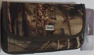 Reiko Horizontal Pouch with Card Holder Belt Clip for iPhone6/6s Plus Camouflage